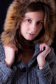 Beautiful Winter Woman — Stock Photo