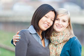 Chinese and Russian Women Portrait — Stock Photo