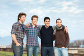 Group of Boys Outside — Stock Photo