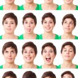 Stock Photo: WomPortrait, Collection of Expressions