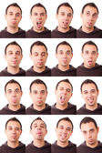 Man Portrait, Collection of Expressions — Stock Photo