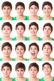 Woman Portrait, Collection of Expressions — Stock Photo