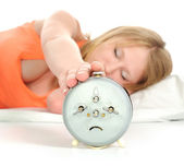 Turning Off Alarm Clock. — Stock Photo