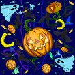 Royalty-Free Stock Vector Image: Halloween pumpkin background