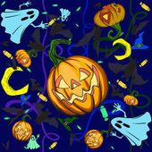 Fundo de abóbora de halloween — Vetorial Stock