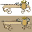 Color Banner spear and crown — Stock Vector #7158792