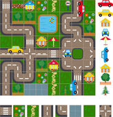 Map scheme of streets — Stock Vector