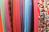 Textiles in store — Stock Photo