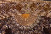 Fragment of golden ceiling in Guri Amir — Stock Photo