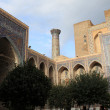Courtyard of Madrasa of Ulugh Beg — Stock Photo