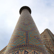 Stock Photo: Minaret of Sher Dor Madrasah