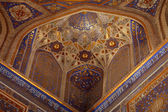 Golden interior of Tilya Kori Madrasah — Stock Photo