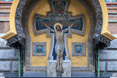Crucifix on the wall — Stock Photo