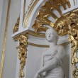 Statue of woman in main staircase of the Winter Palace — Stock Photo