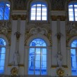 Windows of main Staircase of the Winter Palace — Stock Photo