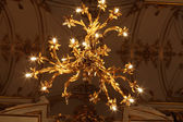 Chandelier of main Staircase of the Winter Palace — Stock Photo