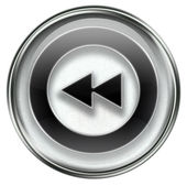 Rewind Back icon grey — Stock Photo
