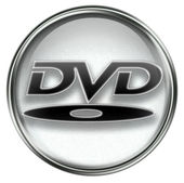 DVD icon grey — Stock Photo