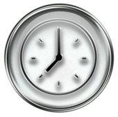 Clock icon grey — Stock Photo