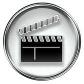 Movie clapper board icon grey — Stock Photo
