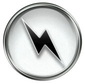 Lightning icon grey — Stock Photo