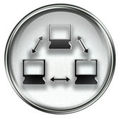Network icon grey — Stock Photo