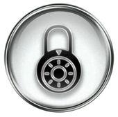 Lock off, icon grey — Stock Photo
