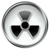 Radioactive icon grey — Stock Photo