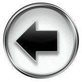 Arrow left icon grey — Foto Stock