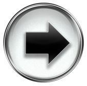 Arrow right icon grey — Stock Photo