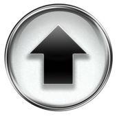 アップロード アイコンは灰色、白い背景で隔離. — ストック写真