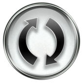 Refresh icon grey — Stock Photo