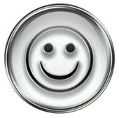 Smiley Face grey — Stock Photo