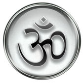 Om Symbol icon grey — Stock Photo