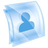 User icon blue, isolated on white background — Stock Photo