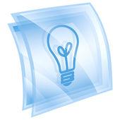 Light Bulb Icon blue, isolated on white background — Stock Photo