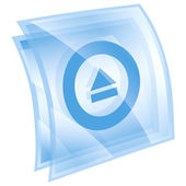 Eject icon blue, isolated on white background. — Stock Photo