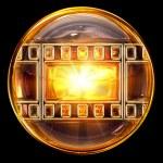 icona di pellicola d'oro, isolato su sfondo nero — Foto Stock