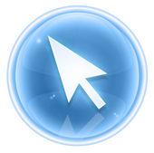 Curcor ikona ledu, izolovaných na bílém pozadí — Stock fotografie