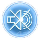 Music off icon ice, isolated on white background. — Stock Photo