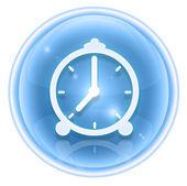 Часы значок льда, изолированные на белом фоне — Стоковое фото