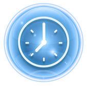 Glace d'icône horloge, isolée sur fond blanc. — Photo