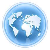 World icon ice, isolated on white background. — Stock Photo