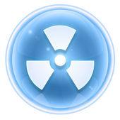Radioactive icon ice, isolated on white background. — Stock Photo
