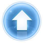 Pijl-omhoog of pictogram ijs, geïsoleerd op witte achtergrond. — Stockfoto