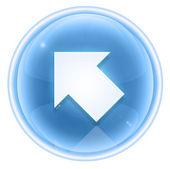 Pfeil-symbol-eis, isoliert auf weißem hintergrund. — Stockfoto