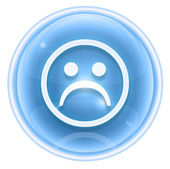 Smiley icon dissatisfied ice, isolated on white background. — Stock Photo