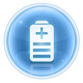 Battery icon ice, isolated on white background — Stock Photo