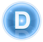 Ice font icon. Letter D, isolated on white background — Stock Photo