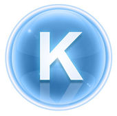 Ice font icon. Letter K, isolated on white background — Stock Photo